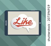 concept for social network and... | Shutterstock .eps vector #207396919