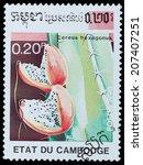 cambodia   circa 1990  a stamp...   Shutterstock . vector #207407251