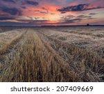 Stubble Field Landscape With...
