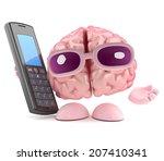 3d render of a brain character... | Shutterstock . vector #207410341