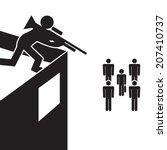 assassination vector   Shutterstock .eps vector #207410737