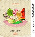 Candy Shop. Vector Illustration....