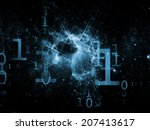 number in space series.... | Shutterstock . vector #207413617
