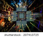 number tunnel series. backdrop...   Shutterstock . vector #207413725