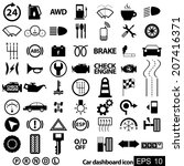 car dashboard icons | Shutterstock .eps vector #207416371