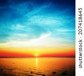 Beautiful Sunset Over Calm Sea...