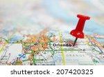 closeup of orlando florida map... | Shutterstock . vector #207420325