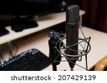 studio microphone  recording... | Shutterstock . vector #207429139