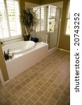 spacious bathroom with a tile... | Shutterstock . vector #20743252