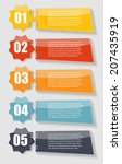 infographic templates for... | Shutterstock .eps vector #207435919