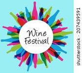 wine festival design | Shutterstock .eps vector #207439591