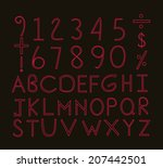 font samples | Shutterstock .eps vector #207442501