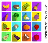 modern fruits and vegetables... | Shutterstock .eps vector #207443059