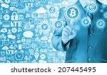 choosing bitcoins  businessman...   Shutterstock . vector #207445495