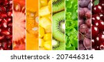 healthy food background.... | Shutterstock . vector #207446314