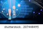 technology sport background in... | Shutterstock .eps vector #207448495