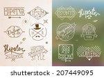 hipster vintage design... | Shutterstock .eps vector #207449095