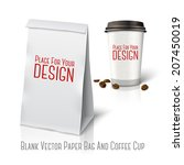 blank white vector realistic... | Shutterstock .eps vector #207450019