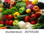 group of different fruit and... | Shutterstock . vector #20745100