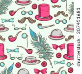 isolated retro vintage elements.... | Shutterstock .eps vector #207451681