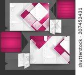 business brochure template...   Shutterstock . vector #207452431