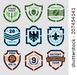 stencil shield shapes | Shutterstock .eps vector #207454141