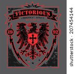 victorious eagle graphic | Shutterstock .eps vector #207454144