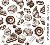vector seamless pattern with ... | Shutterstock .eps vector #207464191