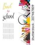 concept of school tools... | Shutterstock . vector #207467809