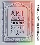 art deco geometric vintage... | Shutterstock .eps vector #207471511