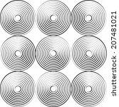 vector pattern. modern stylish... | Shutterstock .eps vector #207481021