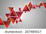 contemporary geometric... | Shutterstock . vector #207485017