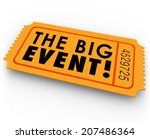 the big event words on an... | Shutterstock . vector #207486364