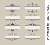 set of vintage frame border... | Shutterstock . vector #207487687
