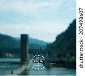 blurred landscape background....