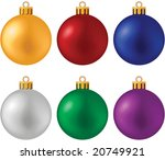 christmas ball set   blend and... | Shutterstock .eps vector #20749921