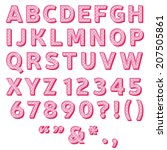 Pink Polka Dot Font Collection...