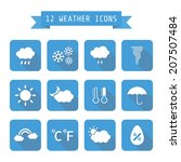 set of  weather icon with... | Shutterstock .eps vector #207507484