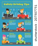 safety driving tips  vector... | Shutterstock .eps vector #207507751