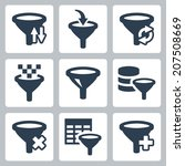 filter related vector icons set | Shutterstock .eps vector #207508669