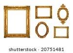 vintage gold ornate frames ... | Shutterstock . vector #20751481
