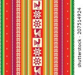south american colorful fabric... | Shutterstock .eps vector #207514924