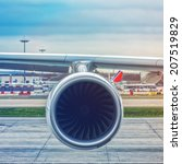 Small photo of Commercial aircraft engine
