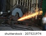 cutting steel machine | Shutterstock . vector #207521974