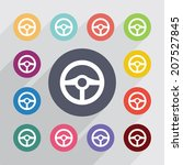 flat icons set. round colorful... | Shutterstock .eps vector #207527845