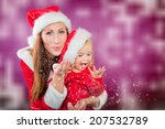 christmas mother playing with... | Shutterstock . vector #207532789