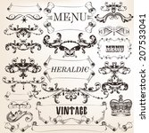 vector set of calligraphic... | Shutterstock .eps vector #207533041