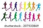 group of male and female runner ... | Shutterstock . vector #207533869