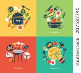 cooking collection composition | Shutterstock .eps vector #207537745