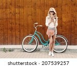 young sexy blonde girl with...   Shutterstock . vector #207539257